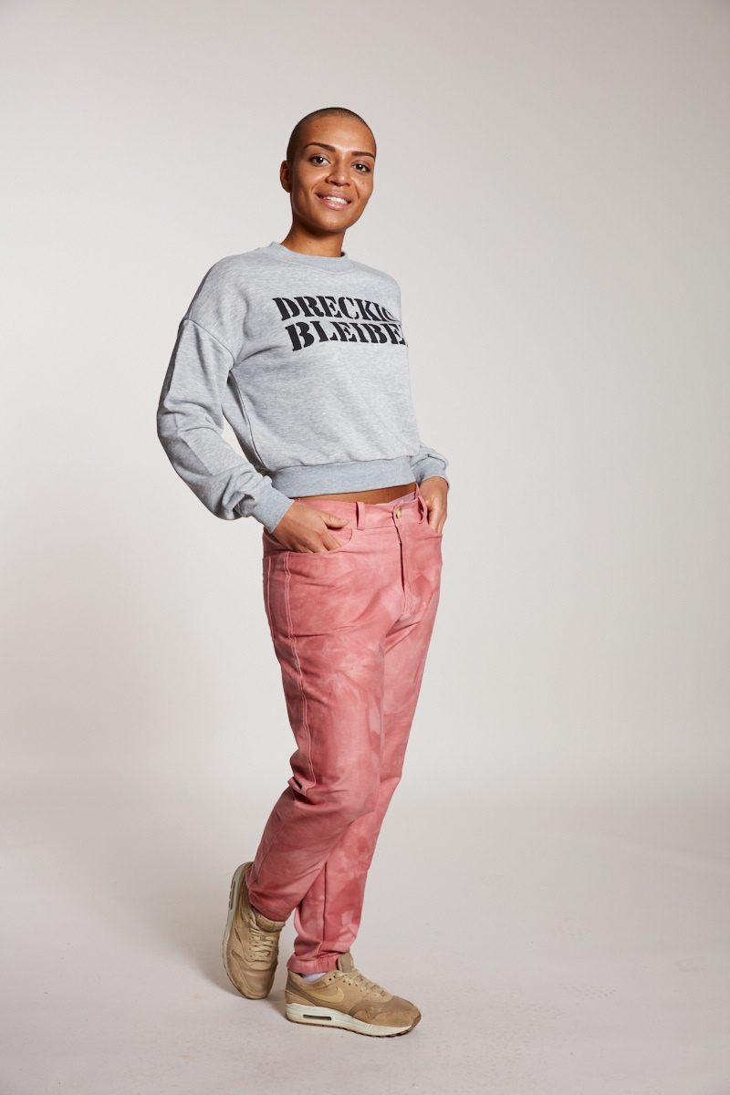 DRECKIG BLEIBEN Sweater Elternhaus, fair fashion made in Hamburg