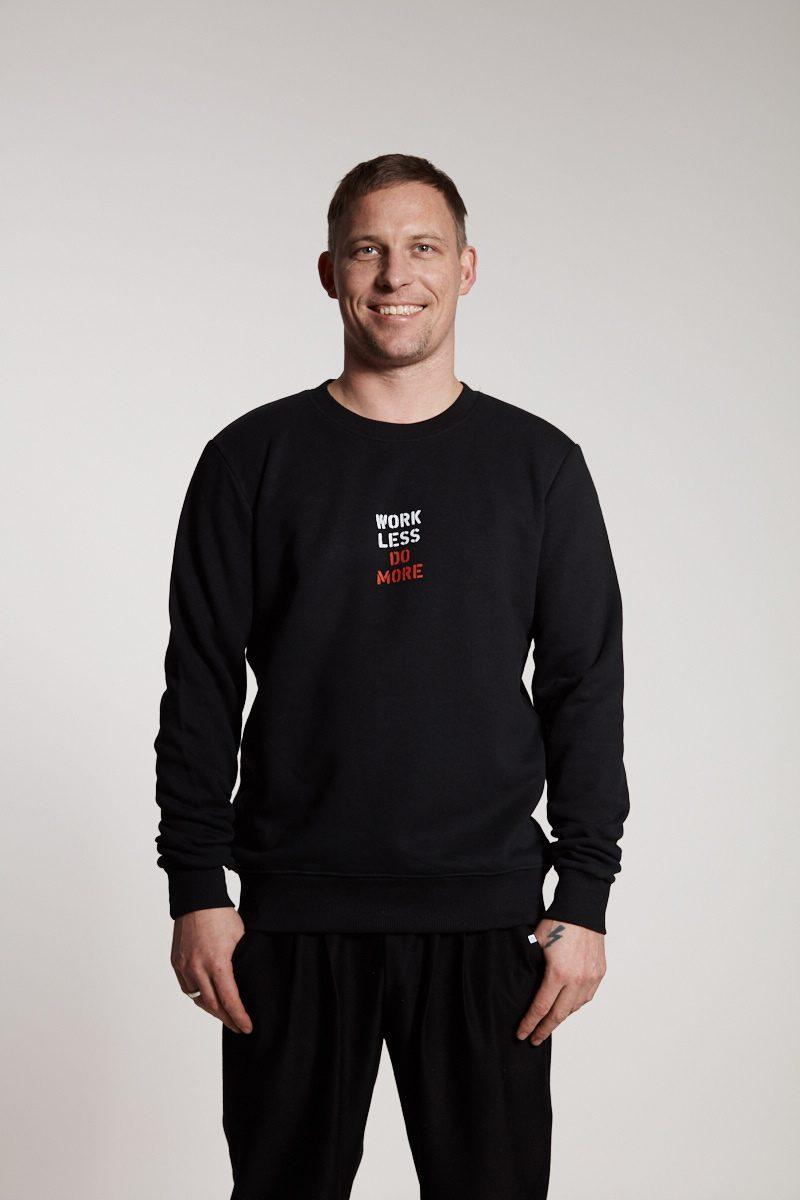 work less do more - Sweater für Herren von Elternhaus