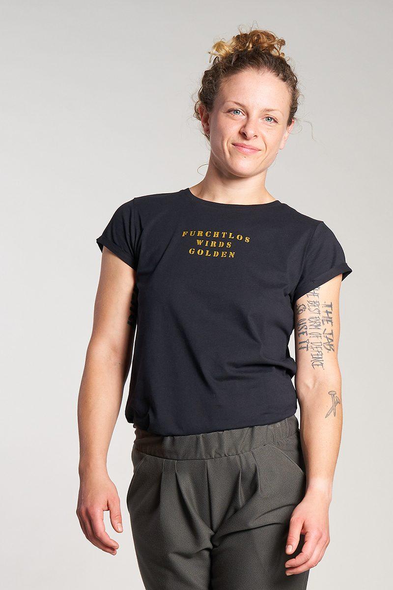 furchtlos wirds golden- Damenshirt von Elternhaus