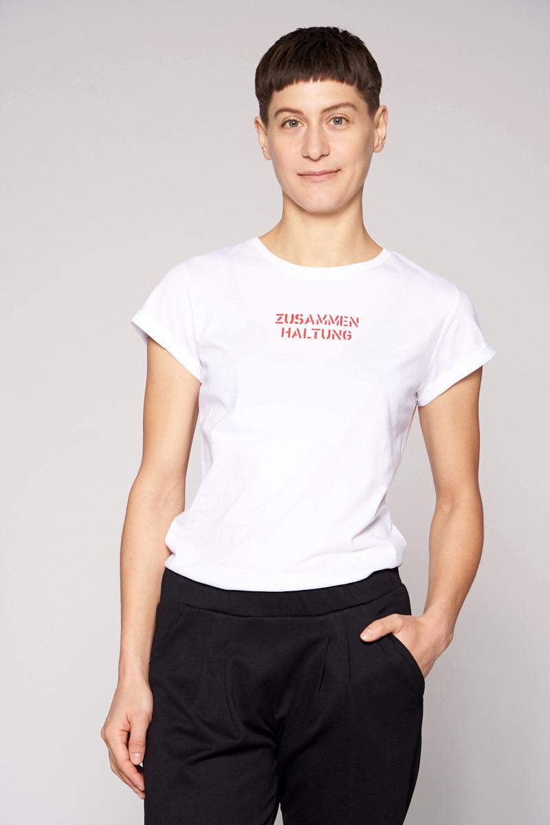 Zusammen Haltung - Damenshirt von Elternhaus