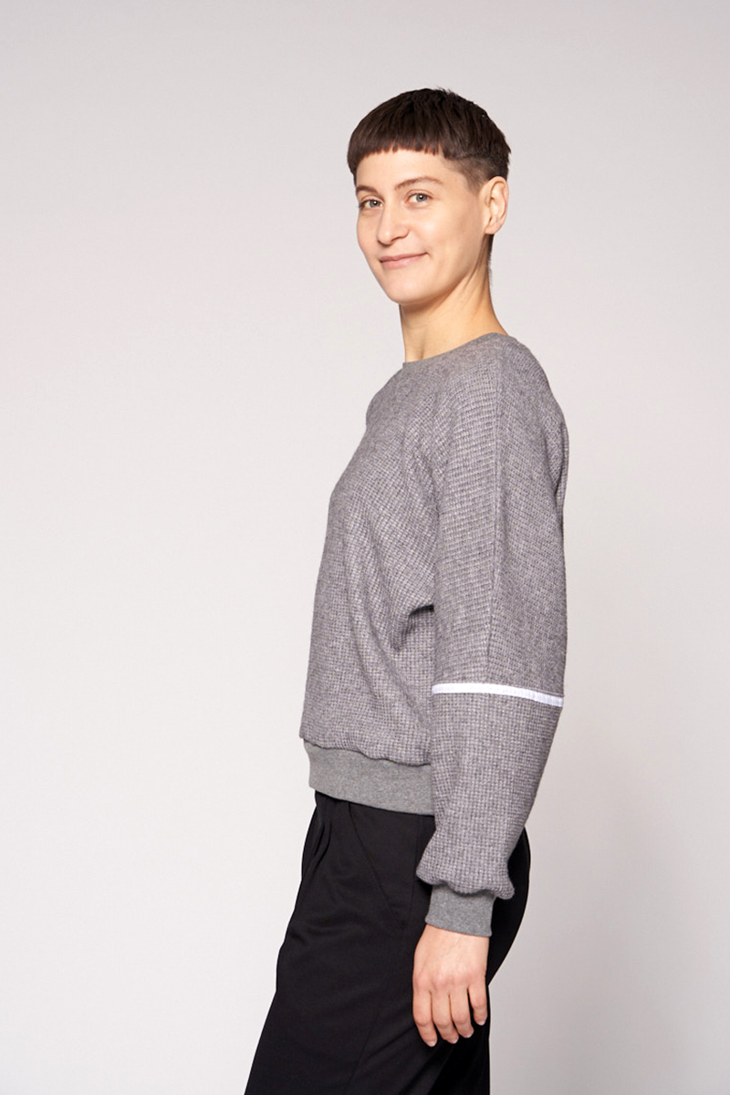 Sweater aus weichem Viskosestrick
